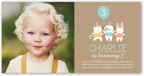 Party Friends Birthday Invitation by Stacy Claire Boyd