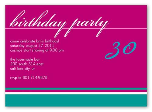 Birthday Fuchsia Party Invitation by Petite Lemon