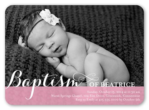 Precious Swirls Girl Baptism Invitation by Blonde Designs
