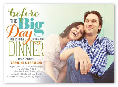 Pre Wedding Dinner Invitation: Rehearsal Dinner Invitations & Rehearsal Dinner Invites