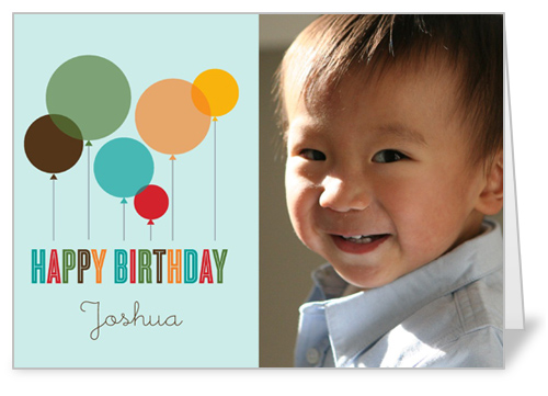 Fun Balloons Blue Birthday Card by Float Paperie