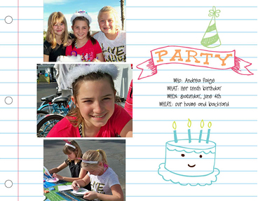 Party Girl Photo Book