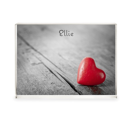 Red Heart Acrylic Block, 5 x 7 inches, Multicolor