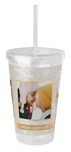 Metallic Snowflakes Acrylic Tumbler With Straw By Shutterfly Shutterfly
