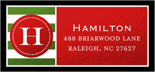 Shining Monogram Address Label