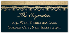 blessings of christmas address label