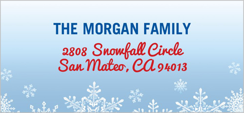 Merry Frost Address Label