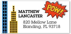 superhero address label