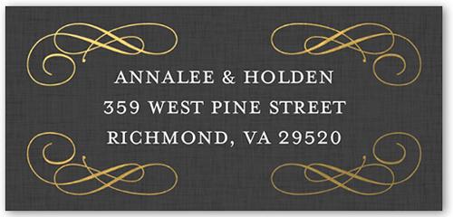 Antique Frame Address Label
