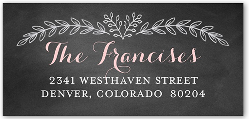 Chalkboard Christening Girl Address Label