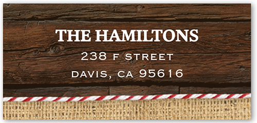 Merry Burlap Band Address Label