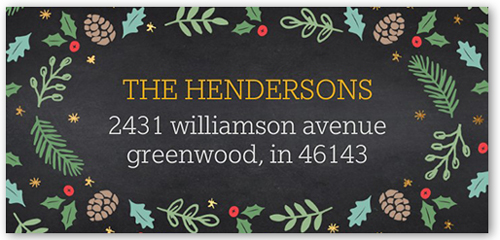 Precious Foliage Frame Address Label