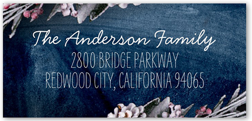 Snowy Branches Address Label