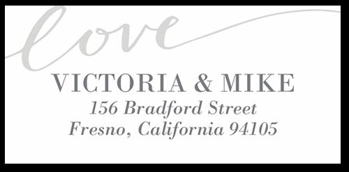 Lovely Scripted Address Label