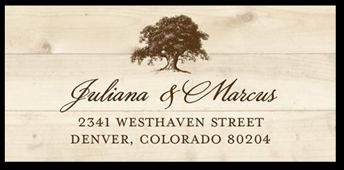 Rustic Statement Address Label