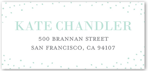 Dreamy Wedding Dress Address Label
