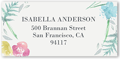 watercolor perfection address label