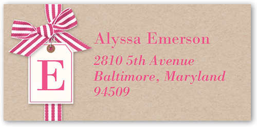 Ribbon Chic Address Label