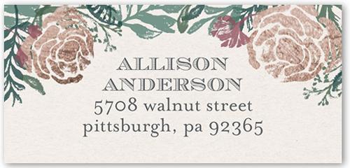 Floral Notes Address Label