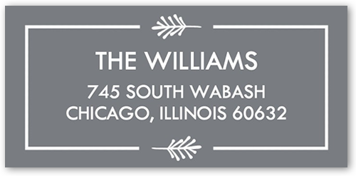 Merry Script Banner Address Label