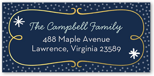 Swirled Fun Address Label