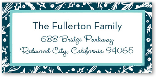Festive Bordered Foliage Address Label