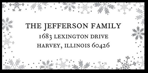 Merry Framed Flurries Address Label