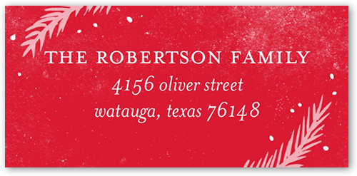 Overlay Foliage Address Label