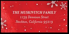 flurry christmas address label