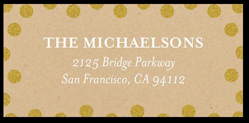 Sparkling Confetti Joy Address Label