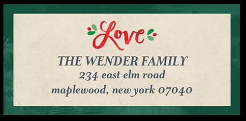 Simply Elegant Joy Address Label