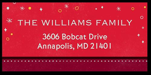 Jubilant Confetti Address Label
