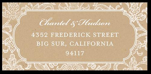 Kraft Damask Address Label