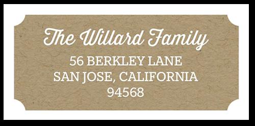 Monogram Rustic Address Label