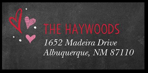 Lovely Chalkboard Address Label