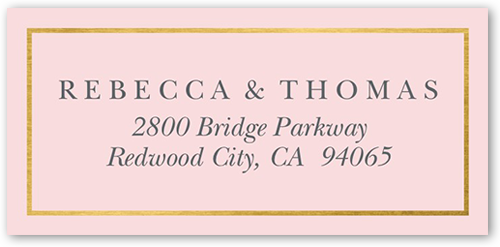 Luminous Affair Address Label