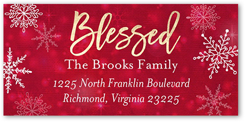 Joyfully Blessed Address Label
