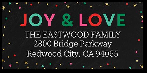 Colorful Framed Greeting Address Label
