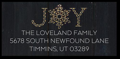 Single Flurry Joy Address Label