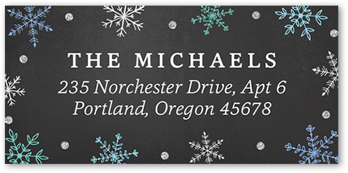 Dazzling Whimsy Merry Address Label
