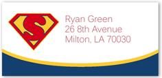 super hero address label