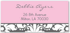 love package pink address label