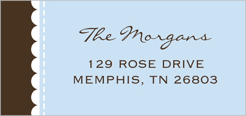 Faithfully Blue Address Label
