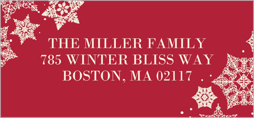 Framed In Snowflakes Address Label