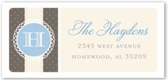 joyful monogram boy address label