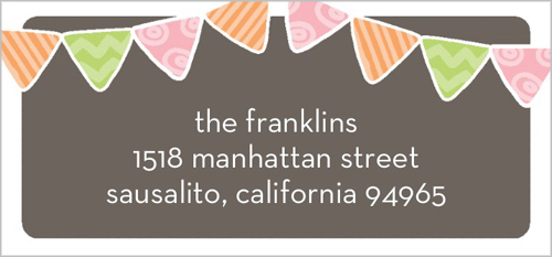 Patterned First Girl Address Label
