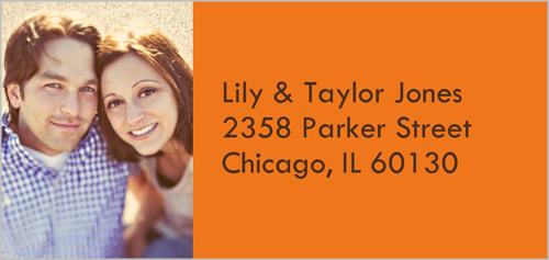 Classic Tangerine Address Label