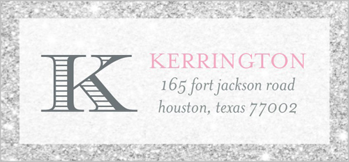 Diamond Collage Address Label