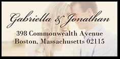 romantic overlay address label