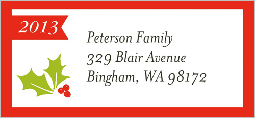Joyful Holly Frame Address Label